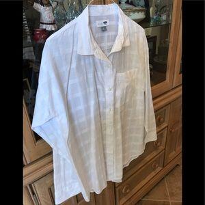 Old Navy White Boyfriend Shirt